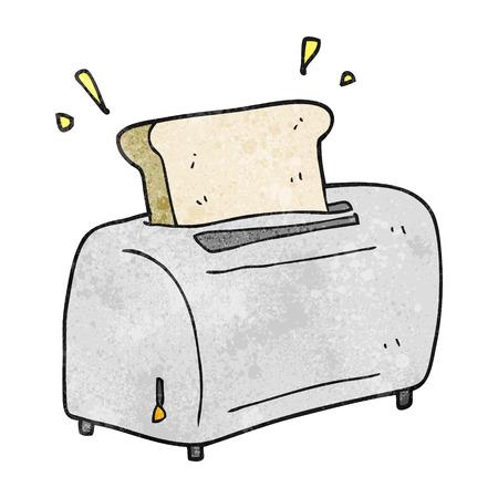 freehand textured cartoon toaster