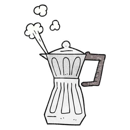 stovetop: freehand textured cartoon espresso stovetop maker Illustration