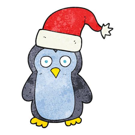 textured: freehand textured cartoon penguin