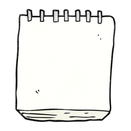 pad: freehand textured cartoon note pad