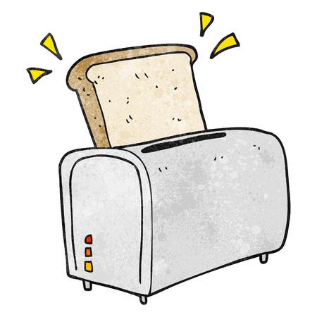 textured: freehand textured cartoon toaster