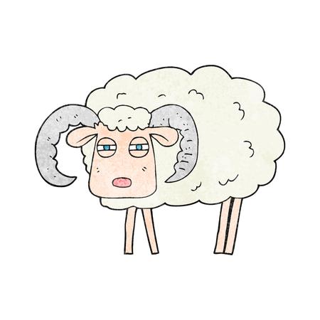 textured: freehand textured cartoon ram
