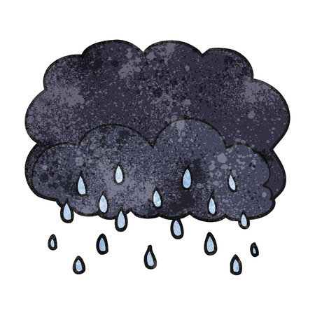 cartoon cloud: freehand textured cartoon thundercloud
