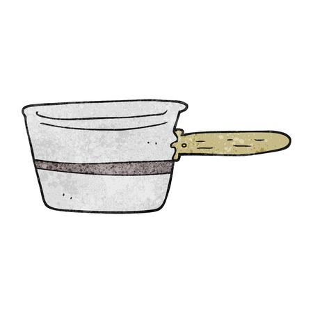saucepan: freehand textured cartoon saucepan Illustration
