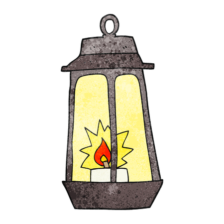 freehand textured cartoon lantern Illustration