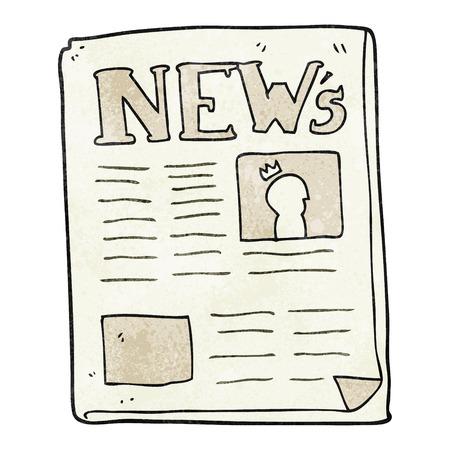 textured: freehand textured cartoon newspaper Illustration