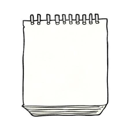 notepads: freehand textured cartoon notepad