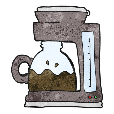 coffee filter: freehand textured cartoon coffee filter machine