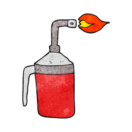 blow: freehand textured cartoon blow torch