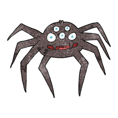 tarantula: freehand textured cartoon spider