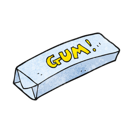 chewing: freehand textured cartoon chewing gum