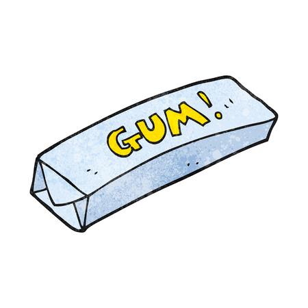 chewing gum: freehand textured cartoon chewing gum