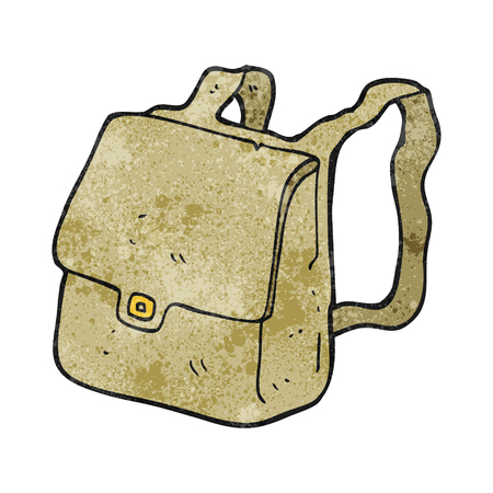 satchel: freehand textured cartoon satchel Illustration