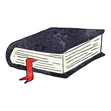 thick: freehand textured cartoon thick book Illustration