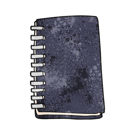 free hand: freehand textured cartoon note book