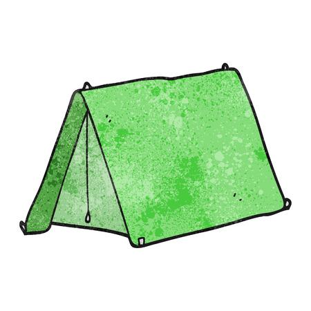 textured: freehand textured cartoon tent