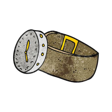 wrist: freehand textured cartoon wrist watch Illustration