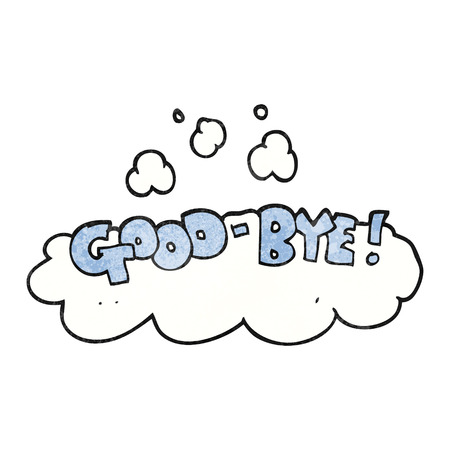 good bye: freehand textured cartoon good-bye symbol