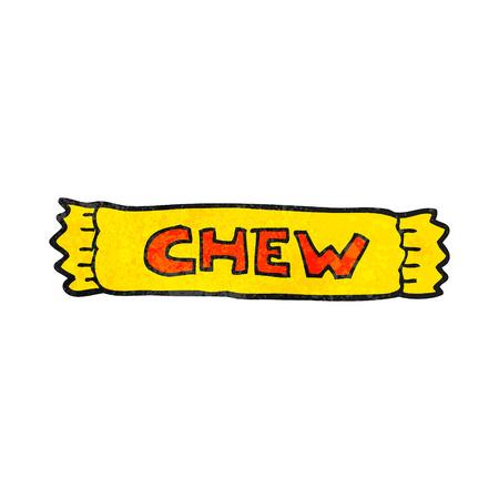 chew: freehand textured cartoon chew Illustration