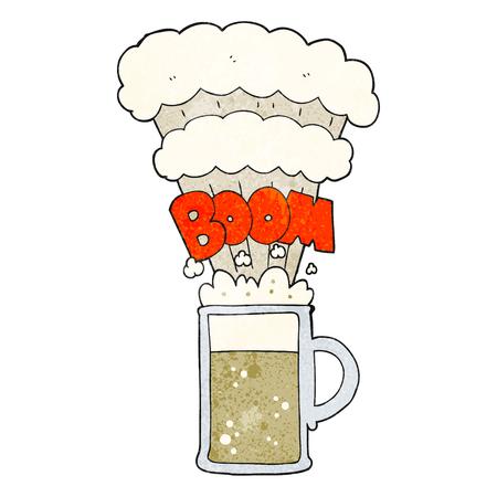 beer stein: freehand textured cartoon exploding beer Illustration