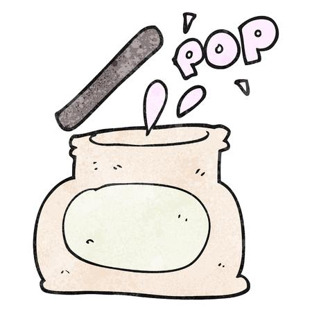 popping: freehand textured cartoon popping jar Illustration