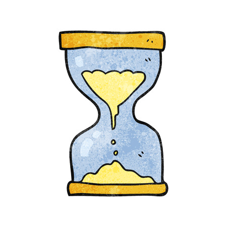 sand timer: freehand textured cartoon sand timer hourglass