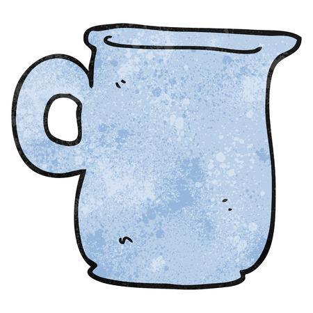 milk jug: freehand textured cartoon milk jug Illustration