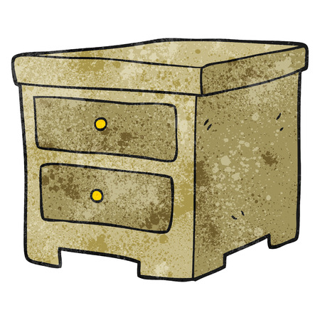 drawers: freehand textured cartoon chest of drawers