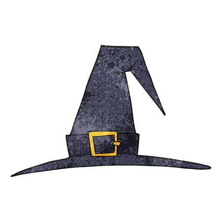 pointy hat: freehand textured cartoon witch hat