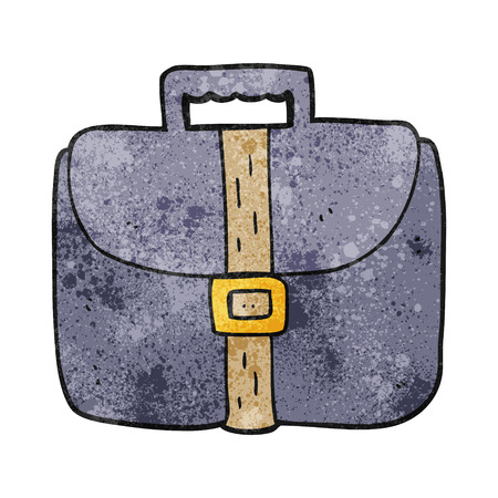 textured: freehand textured cartoon briefcase