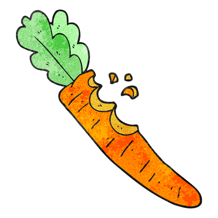 bitten: freehand textured cartoon bitten carrot Illustration