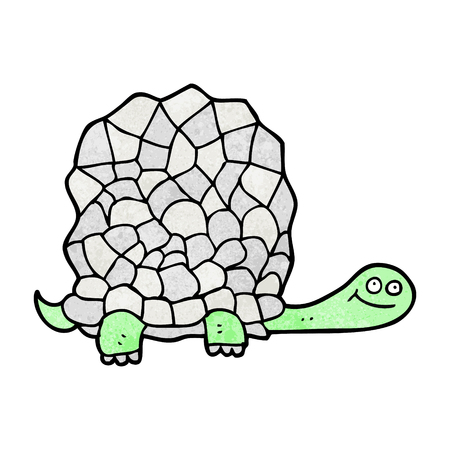 tortoise: freehand textured cartoon tortoise