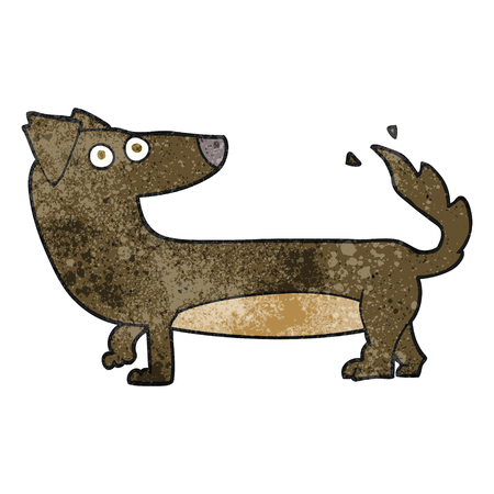 freehand textured cartoon dog