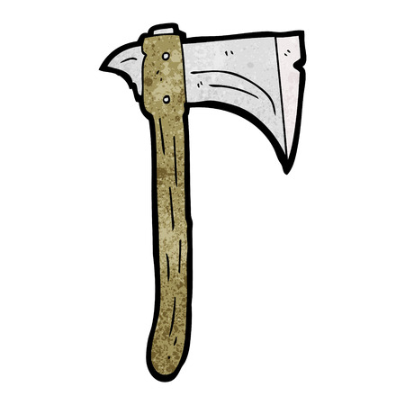 cartoon axe: freehand textured cartoon axe