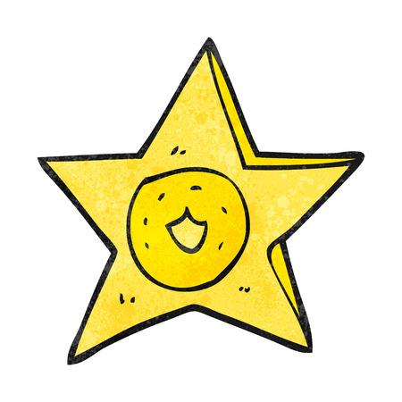 sheriff: freehand textured cartoon sheriff badge Illustration