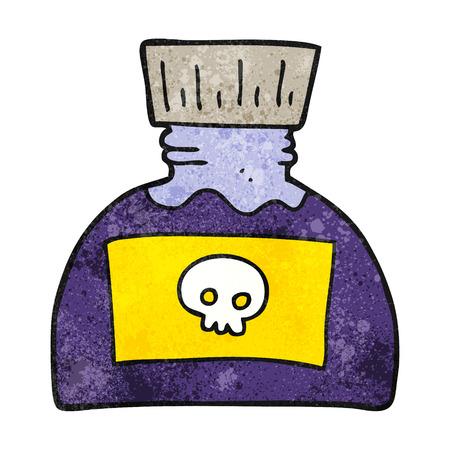 poison: freehand textured cartoon poison