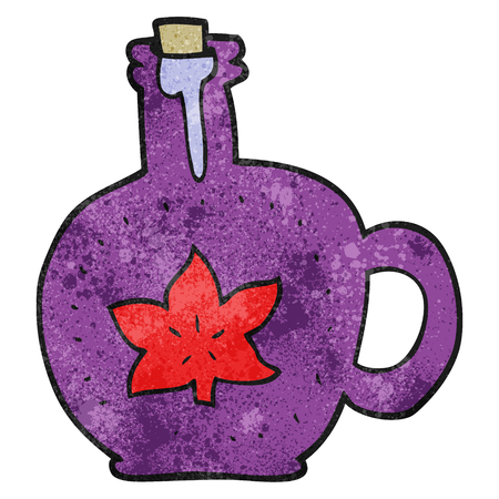syrup: freehand textured cartoon maple syrup