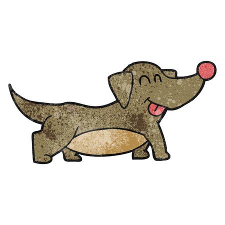 cartoon dog: freehand textured cartoon happy little dog