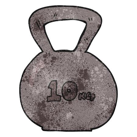 kettle bell: freehand textured cartoon 10kg kettle bell weight