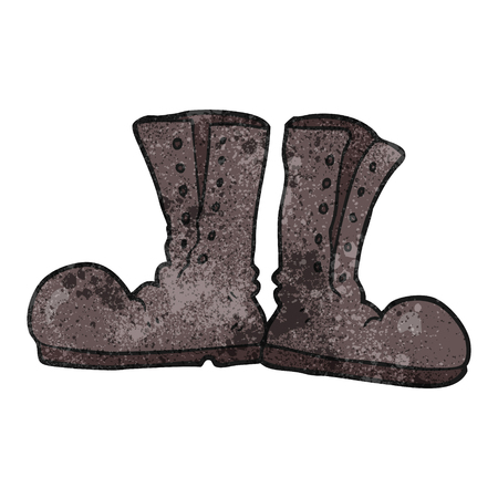 army boots: freehand textured cartoon shiny army boots