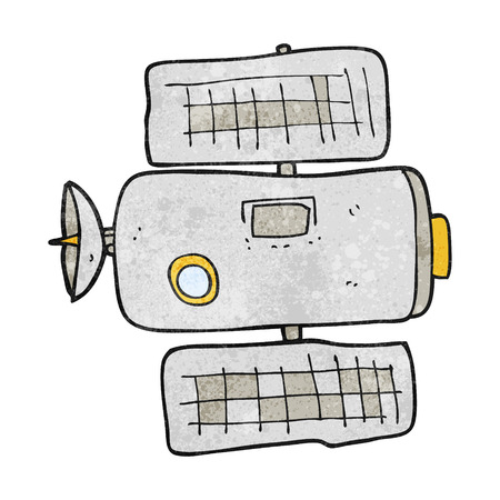 space station: freehand textured cartoon space station