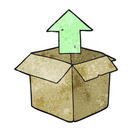 unpacking: freehand textured cartoon unpacking a box Illustration