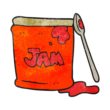 jam jar: freehand textured cartoon jam jar