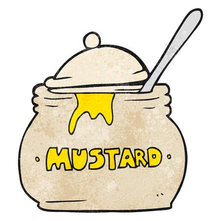 freehand textured cartoon mustard pot