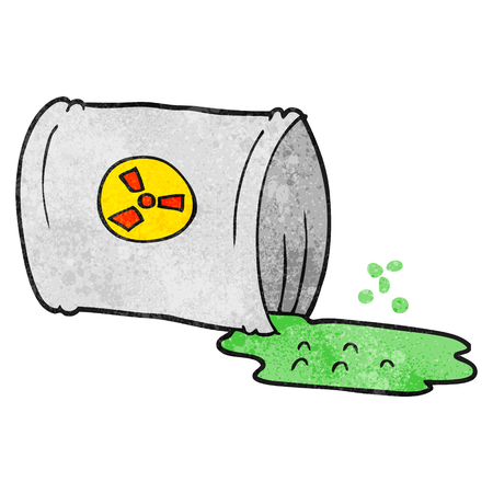 nuclear waste: freehand textured cartoon nuclear waste Illustration