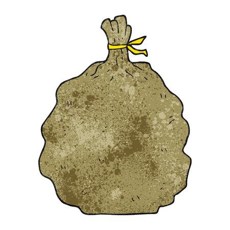 sack: freehand textured cartoon sack Illustration