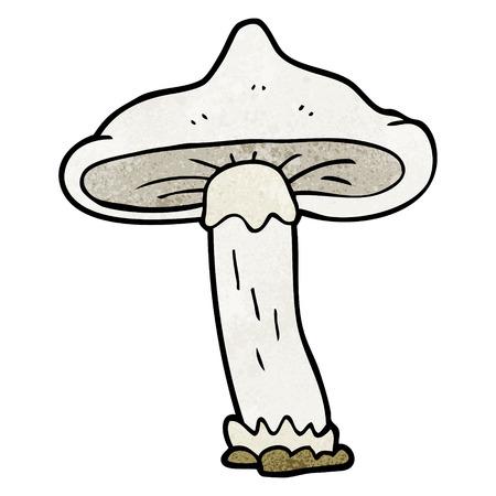 textured: freehand textured cartoon mushroom