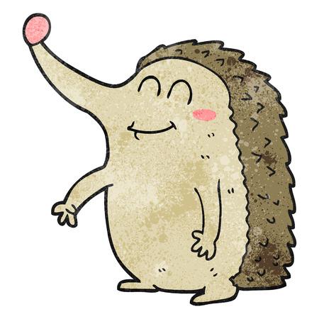 cartoon hedgehog: freehand textured cartoon hedgehog Illustration