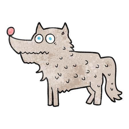 cartoon dog: freehand textured cartoon dog