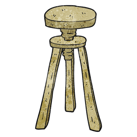 stool: freehand textured cartoon artist stool